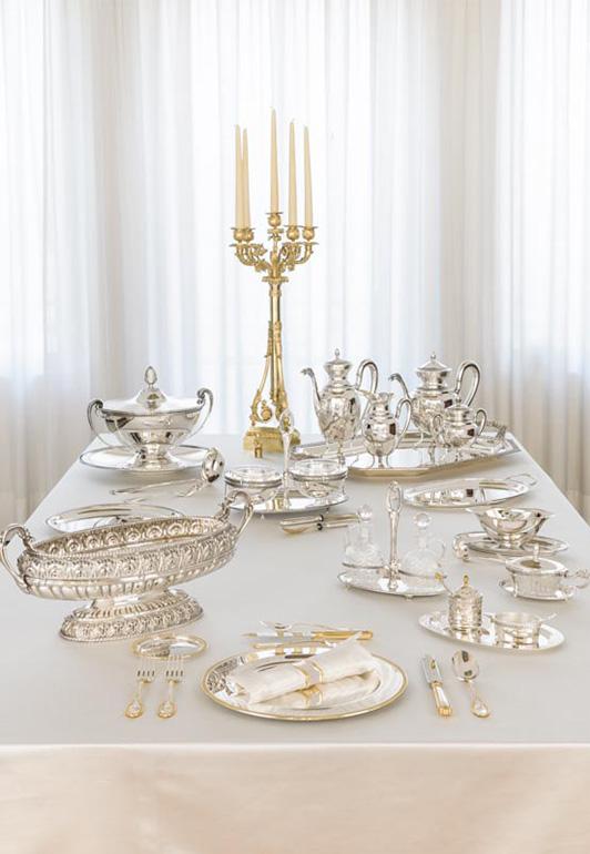Collezione di Lusso in oro, argento e cristallo, Impero Ricco - Argenteria Calegaro 1921 Made in Italy