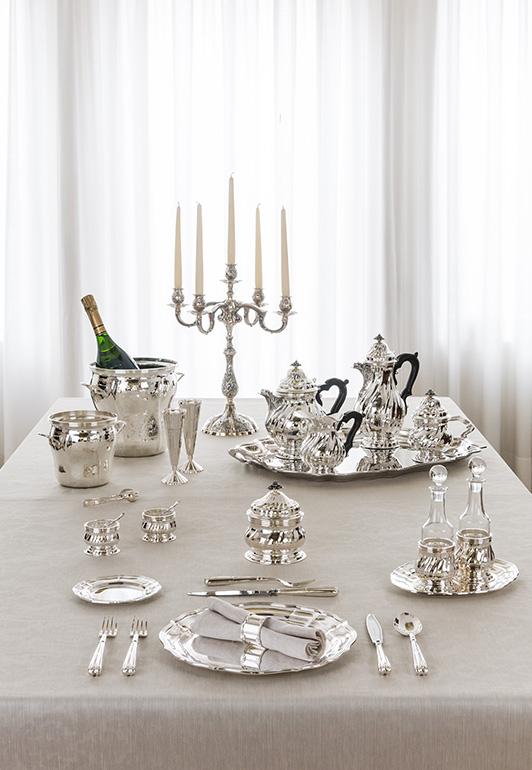 Collezione di Lusso in argento ed ebano, Montenapoleone - Argenteria Calegaro 1921 Made in Italy