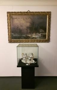 Servizio da Thè Calegaro e Dipinto nello Showroom Villa Calegaro , Praglia - Argenteria Calegaro 1921 Made in Italy